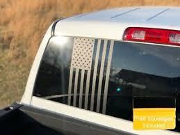 Large American Flag Decal Truck Diesel Rear Window Vinyl Sticker Matte Black 4x4 Ebay