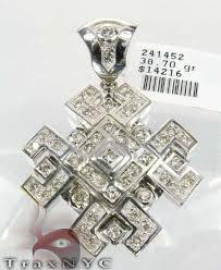 diamond pendant white gold 14k round
