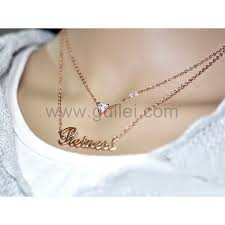 necklace with custom name double chain