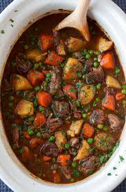 slow cooker beef stew cooking cly