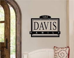 Custom Family Name Vinyl Decal Wall Stickers Letters Words Entryway Home Decor