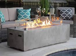 60 rectangular modern concrete fire pit