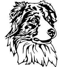 Australian Shepherd Vinyl Decal Aussie Dog Car Sticker Personalized Pet Name Dog Drawing Aussie Dogs Australian Shepherd
