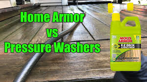 Home Armor Deck Wash Vs Pressure Washer Youtube