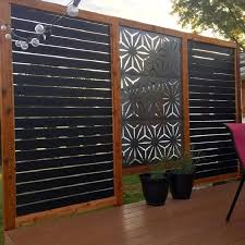35 Metal Privacy Screen Fence Decorative Panel Wood Art How To Make A Privacy Screen Fence Homezideas