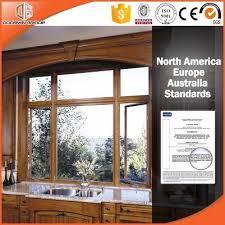aluminum clad wood window with oak