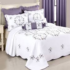 gwen embroidered fl quilted bedspread