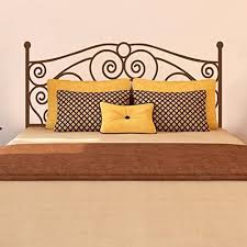Amazon Com Shabby Chic Bed Wall Decal Headboard Vinyl Wall Sticker Bed Grill Iron Wall Quote For Bedroom Dark Brown M Home Kitchen