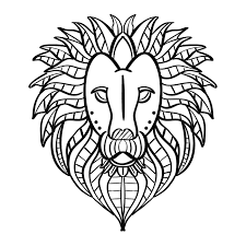 Lion Kleurplaat Download Free Vectors Vector Bestanden