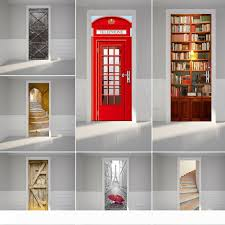 3d Door Wall Fridge Decorate Sticker Wallpaper Decals Self Adhesive Mural Scenery Photo Door Mural Vinyl Decal Scenery Fabric Home Decor Clock Wall Stickers Cloud Wall Decals From J15139563875 79 37 Dhgate Com