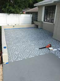 stenciled patio makeover tutorial