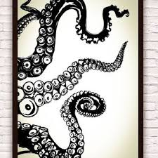 Best Tentacle Wall Art Products On Wanelo Octopus Painting Octopus Drawing Octopus Tentacles Art