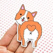 Amazon Com Corgi Butt Sticker Dog Stickers Car Decals Corgi Mom Corgi Dad Cute Gift Vinyl Stickers Laptop Stickers Handmade