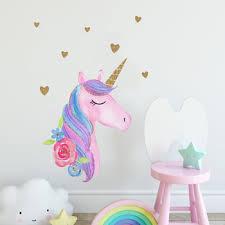 Custom New Design Glitter Unicorn Carton Pvc Peel And Stick Wall Decals Stickers For Kids Nursery Wall Art Room Decor Buy Pvc Wall Decals Wall Stickers Home Decor Wall Sticker Product On Alibaba Com