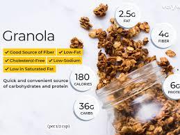 granola nutrition facts calories