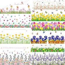 Corner Baseboard Cover Wall Decal Stickers Fresh Flowers Butterfly Home Decor Diy Vinyl Murals For Window Glass Bedroom Bathroom Retail11