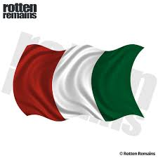 Italy Waving Flag Decal Italian Italia Car Window Vinyl Sticker Lh Rotten Remains High Quality Stickers Decals