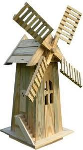 windmill lawn ornament cedar wood