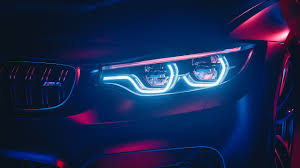 bmw m4 led headlights wallpaper hd