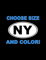 New York Decal Ny Car Decal Ny State Sticker Window Laptop Etsy Custom Decals Car Decals Stickers