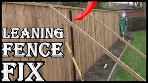 How To Fix A Leaning Wooden Fence Yourself Youtube
