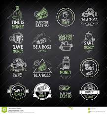 money badge and logo design quote text vector graphic stock