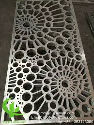 Metal Aluminum Laser Cut Panel For Facade Privacy Screen Fence With 2mm Thickness Metal Perforation Screen