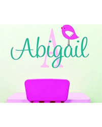 Amazing Deals On Personalized Monogram Decal Name Wall Decal Nursery Wall Decal With Bird