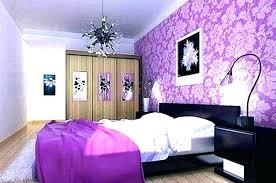 purple painted walls in bedroom light