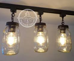 track lighting mason jar light trio new
