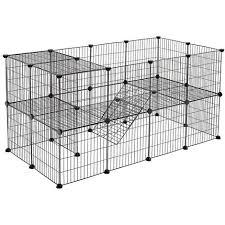 Songmics 2 Storey Animal Fence 143 X 73 X 71 Cm White Lpi02w Hamsters Diy Metal