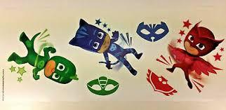 Pj Masks Wall Decals Disney Superheroes Room Decor Stickers Catboy Owlet Gecko