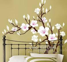 White Flower Wall Decal Cherry Blossom Cuma Wall Decals