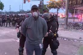 CNN reporters covering Minnesota riots ...