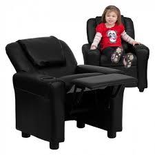 Kids Furniture Chair Black Upholstered Childrens Living Room Cup Holder Recliner For Sale Online