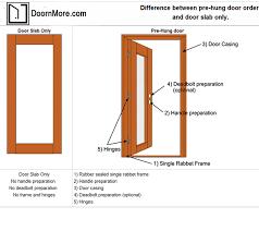 prehung door vs slab doors prehung door