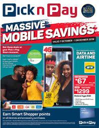 pick n pay mive mobile savings 07
