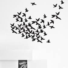 Creative Design Flock Birds Wall Decal Art Home Deco Vynil Etsy