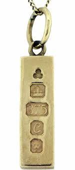 9ct gold ingot pendants