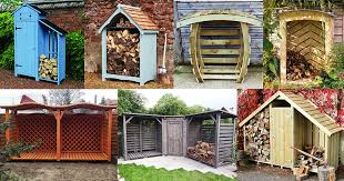 outdoor firewood storage never looked