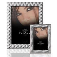 cornice portafoto in argento bilaminato per foto di 13 cm x 18 cm