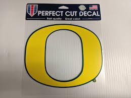 Oregon Ducks Window Die Cut Decal Yellow O Wincraft Sticker 8x8 Sports City Hats