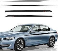 2020 Car Styling M Performance Accent Side Stripes Decals Side Skirt Waistline Vinyl Decal Stickers For Bmw F10 F11 5 Series From Ldyou1990 76 66 Dhgate Com