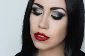morticia addams halloween makeup