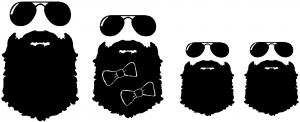 Beard Stick Figure Family Car Or Truck Window Decal Sticker Rad Dezigns