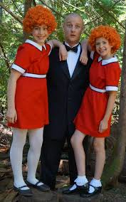 Warbucks with two Annies