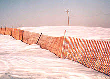 Traditional Wood Slat Snow Fence From Kalinich Fence Company