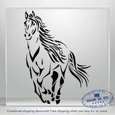Mustang Vinyl Sticker Horse Window Decal Fire Jdm Auto Car Bumper Laptop Tablet Ebay