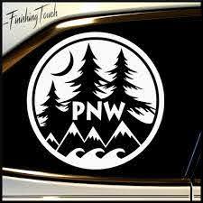 Pnw Pacific Northwest Vinyl Decal Unique Custom Graphic For Car Truck And More Pacific Northwest Art Custom Bottles Vinyl Decals