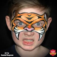 beginner tiger face paint easy face